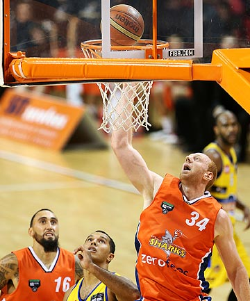 'STUPID MISTAKE': Southland Sharks' basketballer Gareth Dawson in action against the Otago Nuggets in April before he was suspended for taking a prohibited substance.