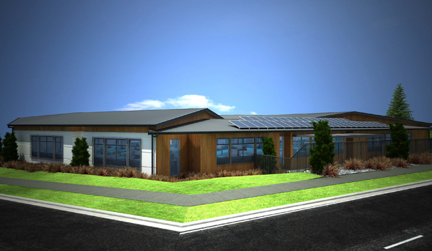 PLANNED: An artist's impression of the proposed new Meridian Energy office building in Twizel.