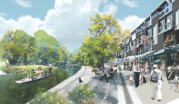 DREAM OR REALITY?: A thriving inner-city neighbourhood is displayed in an artist's impression from the Christchurch Central Recovery Plan - A Liveable City.