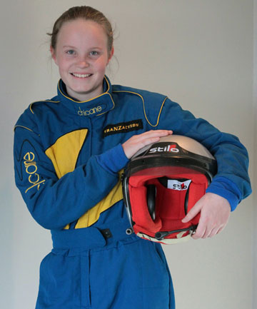 START THE CAR:  Amy Hudson, 13, is gearing up for a weekend of speed. The teenager will make her co-driving debut at the Catlins Coast Rally.