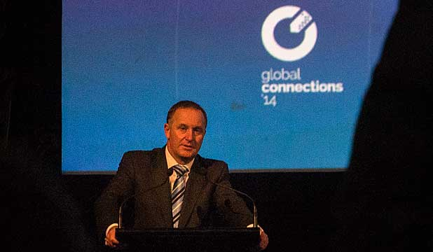 John Key at Global Connections Exporters