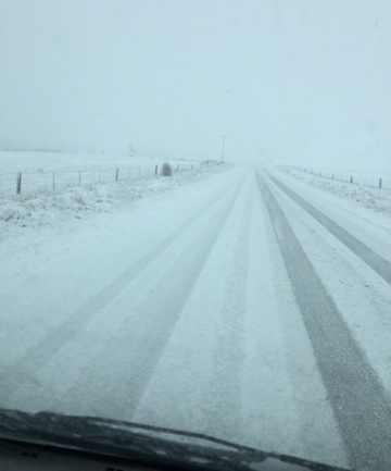 COLD SNAP: Motorist are being warned to take care on Central Otago roads as a cold snap brings snow.