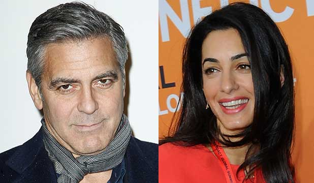 READY TO WED: George Clooney and Amal Alamuddin have supposedly posted their wedding banns.