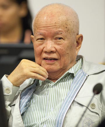JAILED: Khieu Samphan.