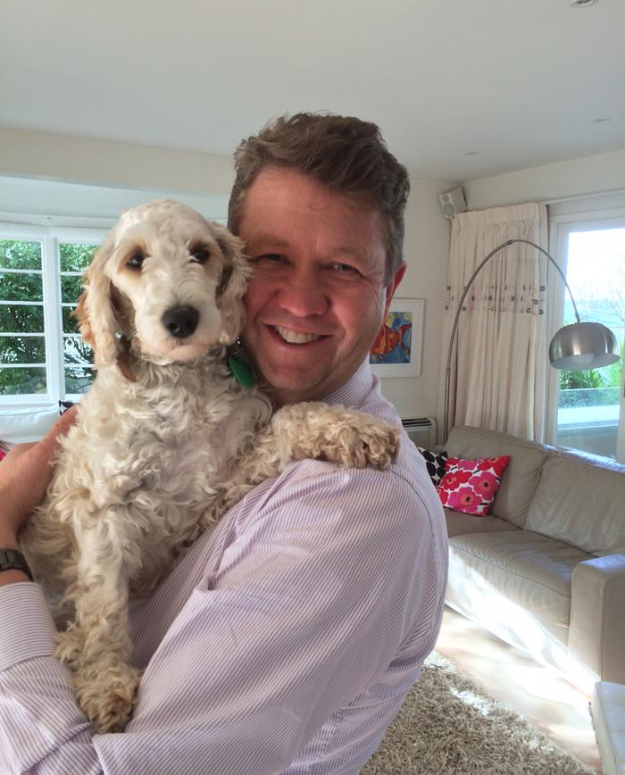 Labour leader David Cunliffe has an adorable spoodle named Daisy. Also part of the family are bees, five chickens, a cat, puppy and two budgies.