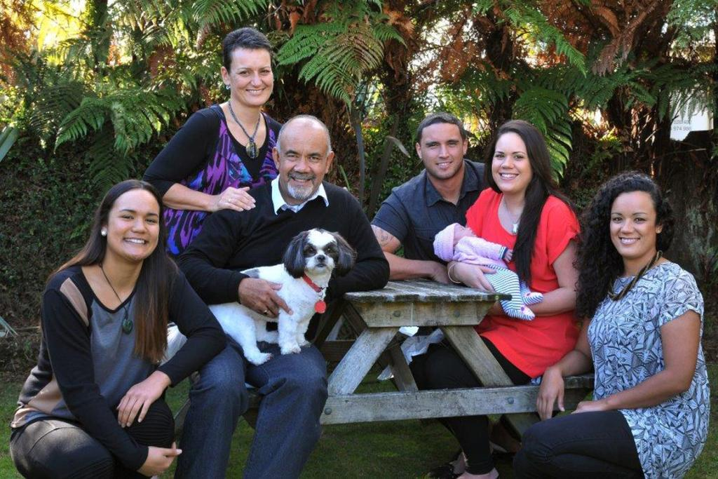 Te Ururoa Flavell's dog Mokai is very much a family pet.