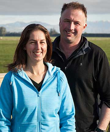 TOP TEAM: Dairy Business of the Year winners Martin and Linsey Furrer.