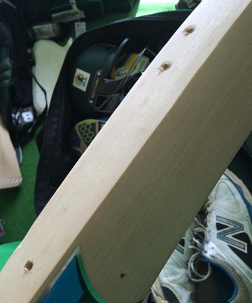 The cricket bat was rendered useless in an apparent drug test.