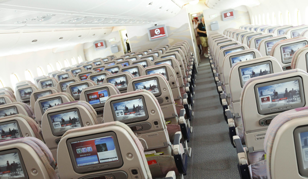 CLASS ABOVE: Life in cattle class is never quite the same after flying business.
