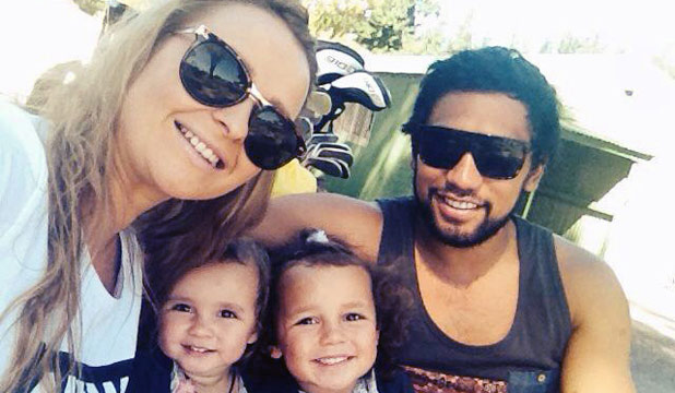 SHATTERED FAMILY: Sarah-Jo Manaena with husband Reihana Manaena and their two young daughters.  She died in a crash on March 3, in which the girls suffered only minor injuries.