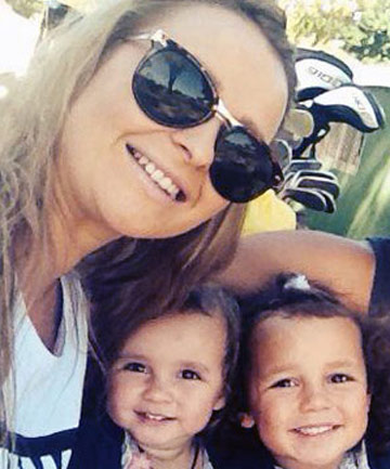 SHATTERED FAMILY: Sarah-Jo Manaena with her two young daughters. She died in a crash on March 3, in which the girls suffered only minor injuries.