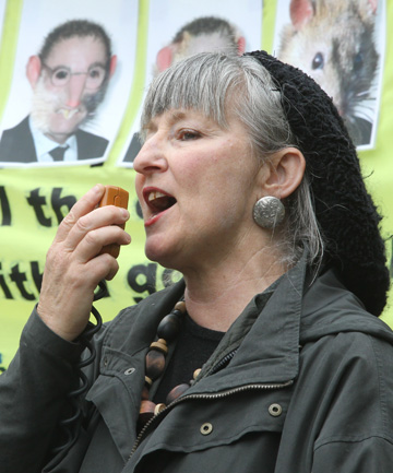 WATERED DOWN: Activist Penny Bright.