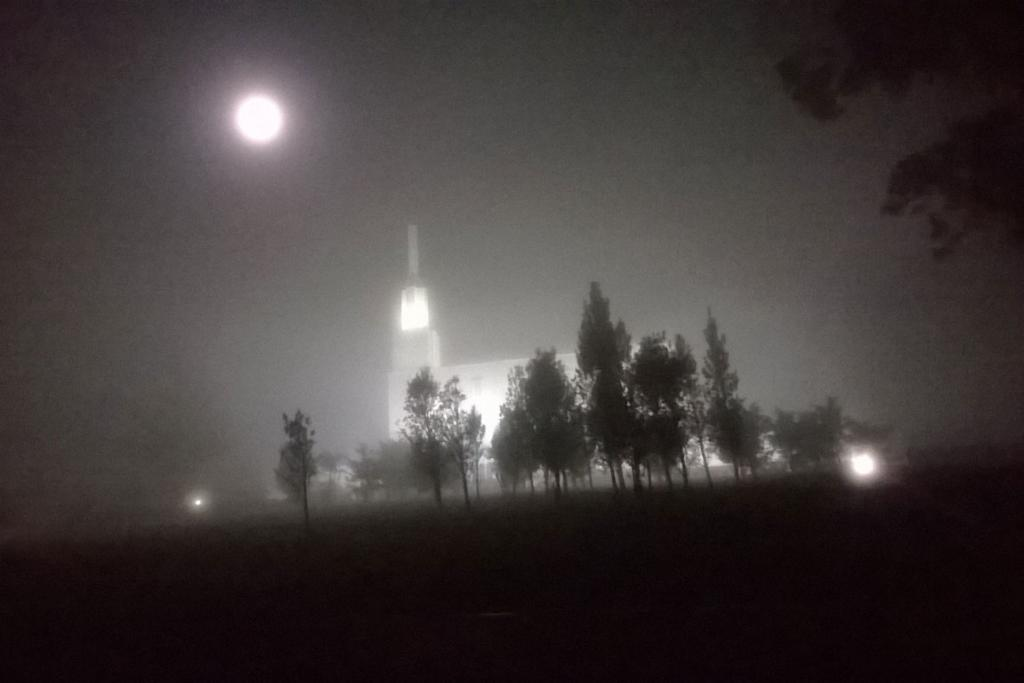 Templeview in fog