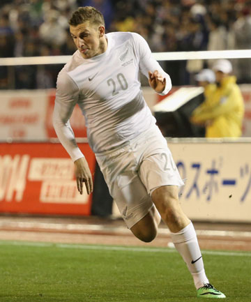 ALL WHITES STRIKER: Chris Wood.