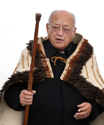 Te Atiawa elder Harry Nicholas before the signing of the Treaty settlement.