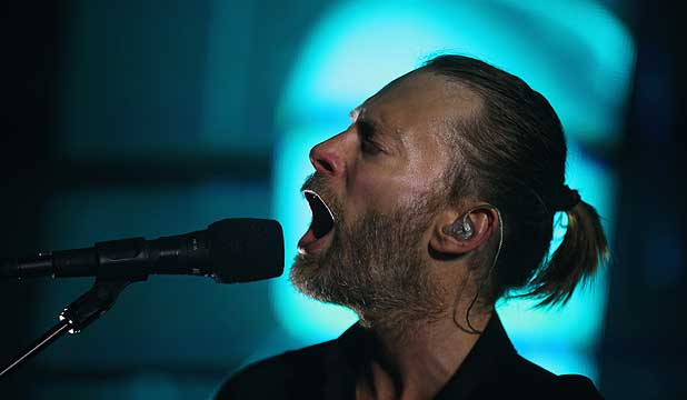 MOST INFLUENTIAL ARTIST: Radiohead, fronted by Thom Yorke.