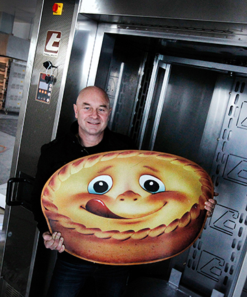 PIE MAN: Bernie Sugrue with his new bakery's Tagliavini rotary oven, which can bake 1000 pies at once.