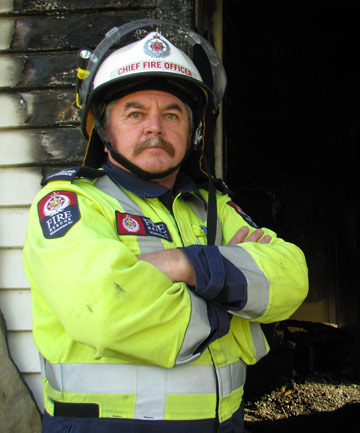 FED UP: Chief fire officer Dave Morris is hoping to secure a demolition order for an Elizabeth Drive home that has been set alight 10 times already