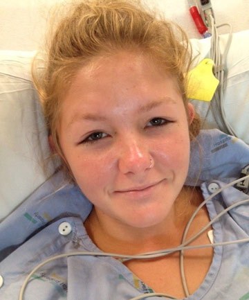 LIFE CHANGED: Whangamata teenager Rebecca Gilchrist survived a mysterious, life threatening illness after collapsing in a classroom.