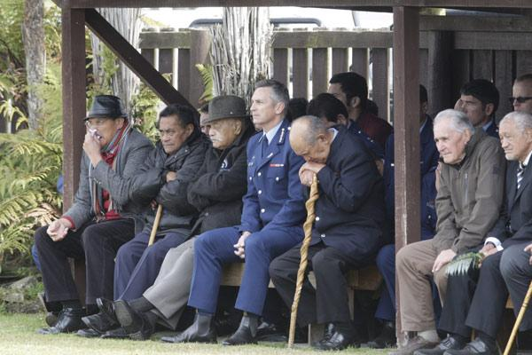 Police Commissioner Mike Bush was among those welcomed to Te Rewarewa Marae in Ruatoki.