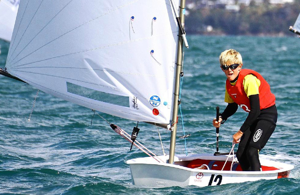 PLAIN SAILING: Sam Bacon's performances as New Zealand Optimist Championships have seen him become the first Wellingtonian to be selected to race that class at a world championship.