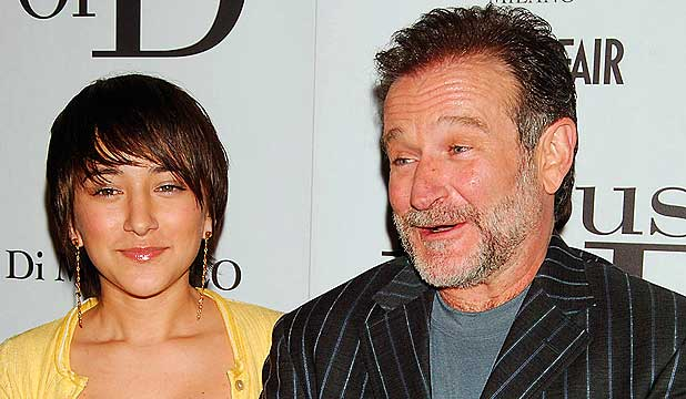 NO WORDS TO DESCRIBE THE LOVE: Robin Williams and his daughter Zelda Williams at a movie premiere in 2005.