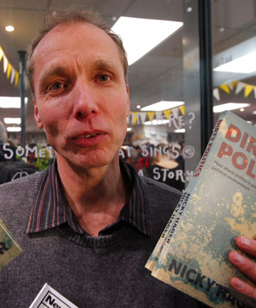 REVELATIONS: Author Nicky Hager launched his latest book, Dirty Politics, in Wellington.