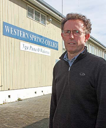 FRUSTRATED PARENT: Gordon Ikin says parents are not going to stand for the lack of action on a school rebuild at Western Springs College.