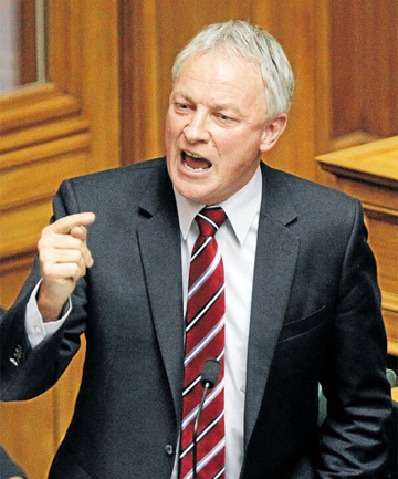 EMBARRASSED: Labour leader Phil Goff,