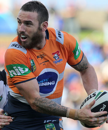 NEW CHALLENGE: Embattled Newcastle Knights star Darius Boyd will reportedly leave the club at the season's end and has been linked with the Brisbane Broncos.