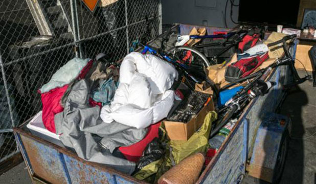 STOLEN GOODS: Police are sorting through the haul in order to return items to their owners.