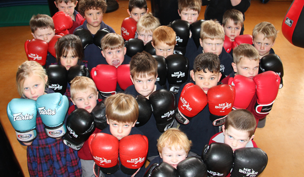 HANDS UP: Pupils at St Mary's School in Gore are learning how to box at their own boxing club.