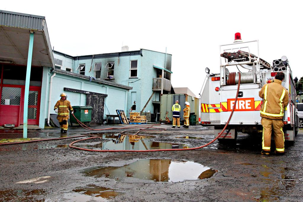 Opunake Surf Inn fire