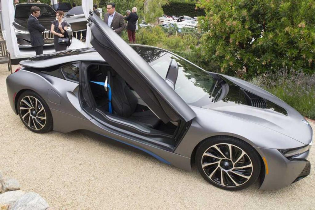 The BMW i8 at the 2014 Monterey Car Week.