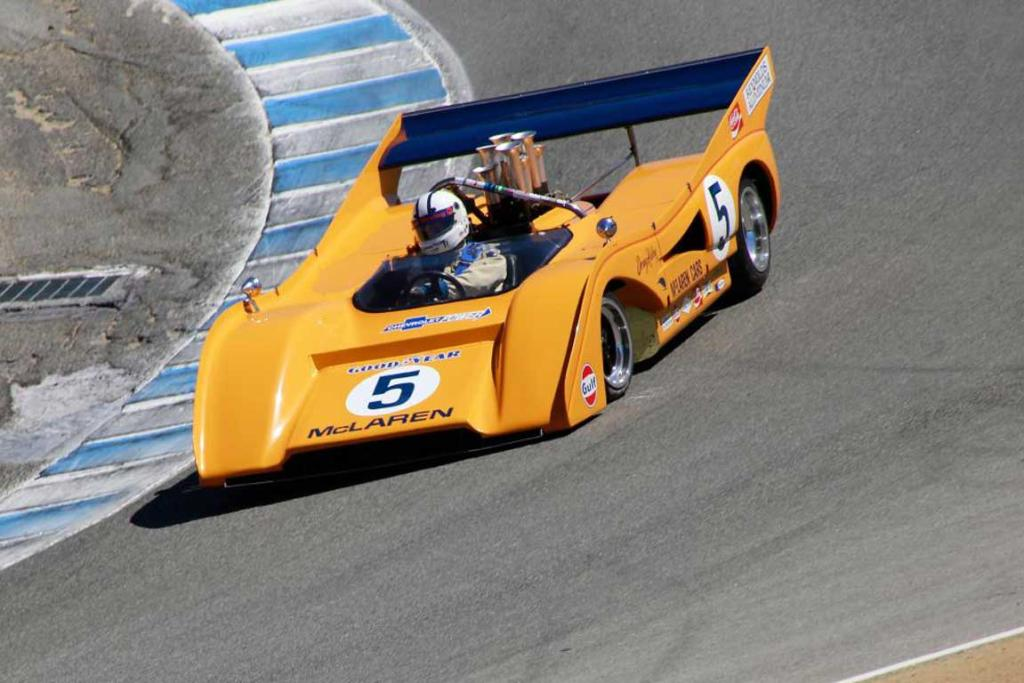 A classic McLaren racer goes through its paces as part of the 2014 Monterey Car Week.