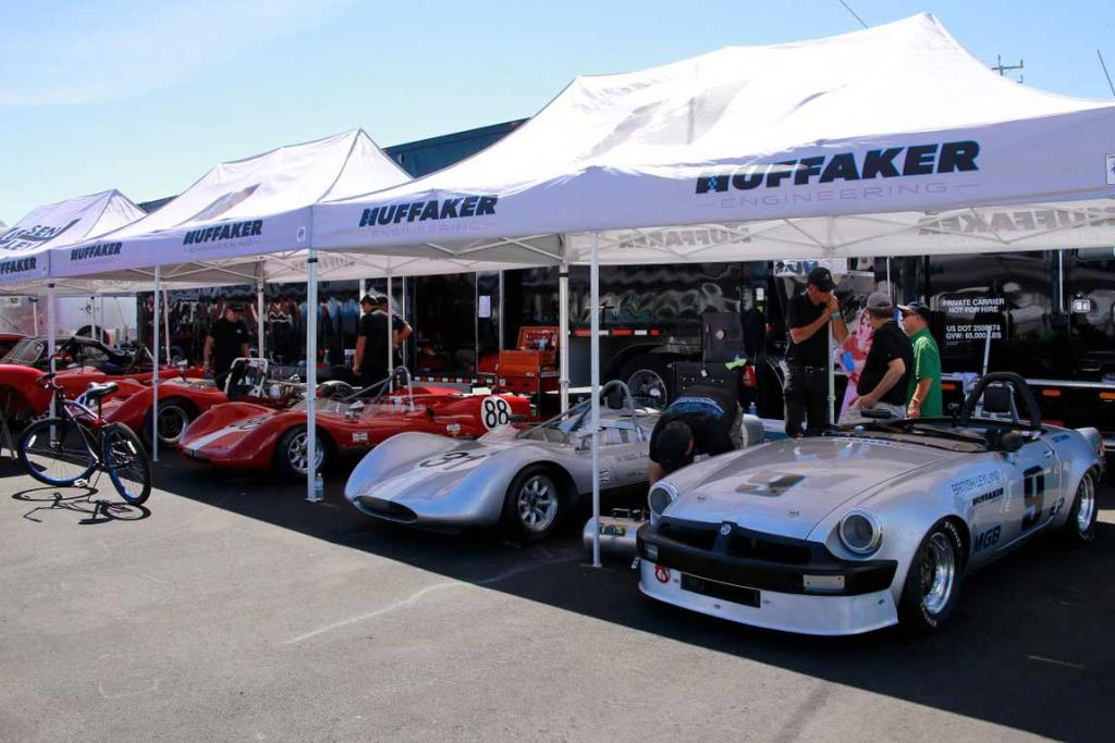A selection of historic racers at the 2014 Monterey Car Week.