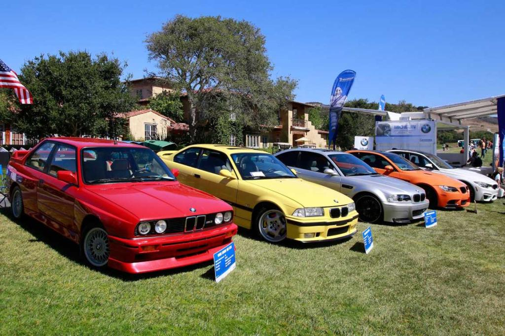 A selection of BMWs at the 2014 Monterey Car Week.