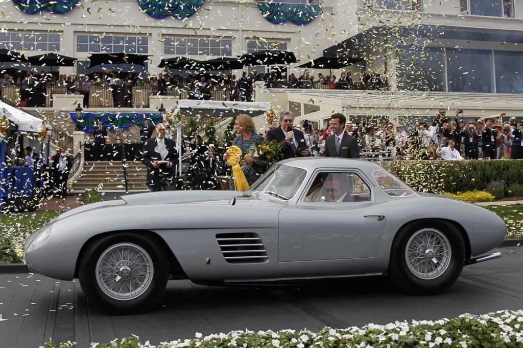 Jon Shirley wins the Best of Show at the Concours d'Elegance with his 1954 Ferrari 375 MM Scaglietti Coupe in Pebble Beach, California. The Concours tops a week-long celebration of automobiles and car culture on the Monterey Peninsula.