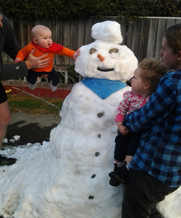 snowman in Blenheim