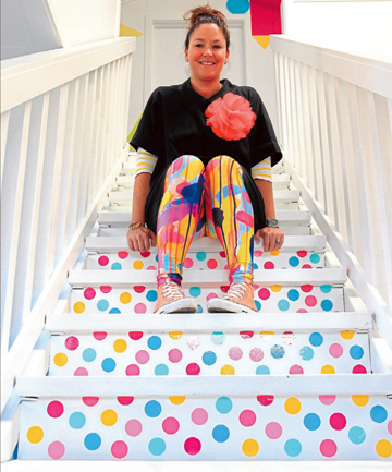 ABI'S DOTS: Blenheim interior designer Alex Fulton is raising money for charity by selling ''Abi's Dots'', a memento for her goddaughter who was killed in a car accident.