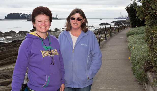 Gina Gray, left, and Diane Burr