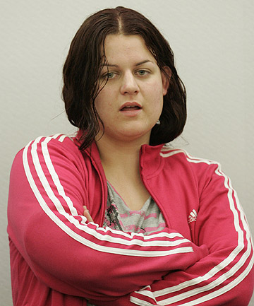 Preying on the elderly: Amanda McNamara at her sentencing in 2008. She was jailed again yesterday for scamming three elderly men out of a total of $7550.