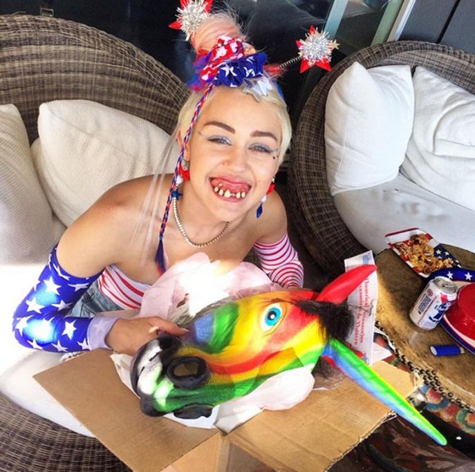 Miley Cyrus's craziest grams