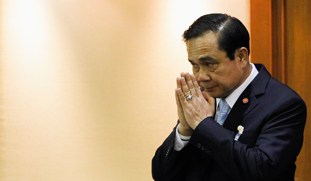 STRONGMAN: Thai Army chief General Prayuth Chan-ocha, seen at the start of a meeting in Parliament earlier this week, is expected to be named prime minister today.