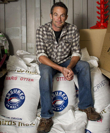 CHAMPION: Martin Townshend began Townshend Brewery eight years ago.