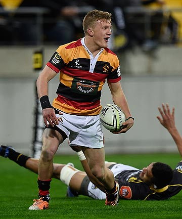 KEY PIVOT: Waikato first five-eighth Damian McKenzie opened his team's campaign in style with an early try against Wellington. Now he's looking to mastermind a win over Canterbury tonight.