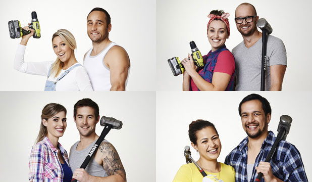 THE BLOCK NZ 2014: Clockwise from top left, Jo and Damo, Alex and Corban, Maree and James and Quinn and Ben.