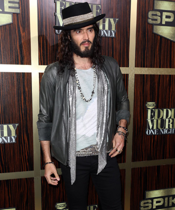 OVERKILL: Russell Brand layers on every accessory known to man.