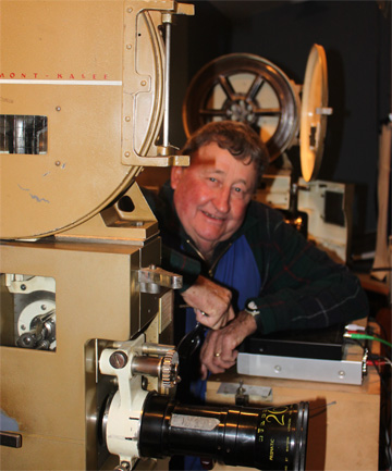 REEL LIFE: Doug Dance has been showing films at the Roxburgh Entertainment Centre since 1954, starting as a 13-year-old assistant projectionist.