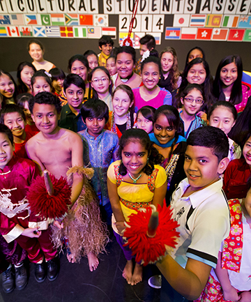 DYNAMIC DIVERSITY: Pupils from 20 different countries share their native culture at Palmerston North Intermediate Normal School's multicultural assembly.